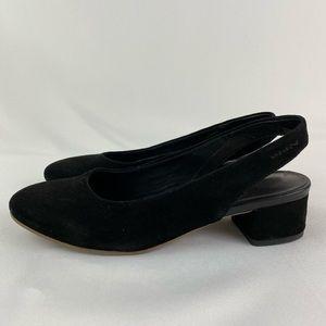 Vagabond Black Suede Slingbacks